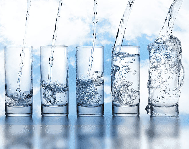 glasses of water